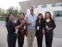 Me with some of the English-speaking guides of the Dunhuang Academy