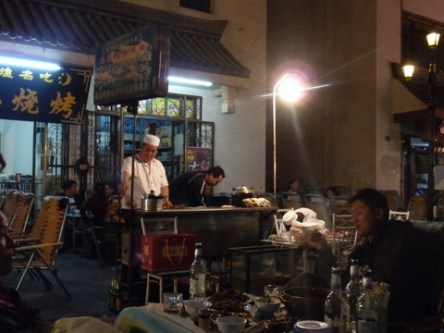 Barbecue stall at the Night Market
