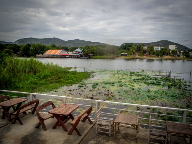 The view across the river from Noi's restaurant at Kanchanaburi