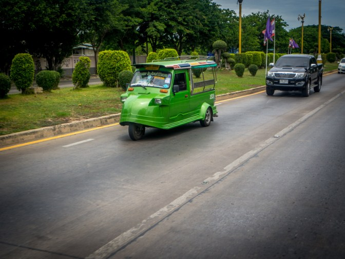 Tuk-tuk, Ayutthaya-style. They are quite different from those in other cities