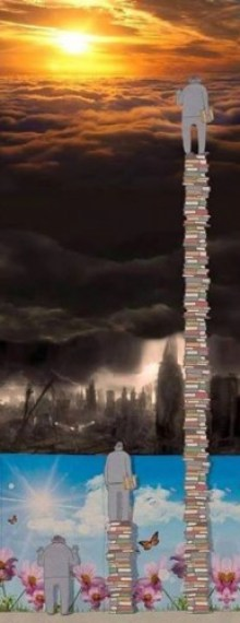 Book-pile-to-see-heavens