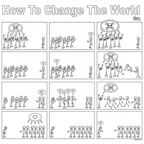 How To Change the World With Love Cartoon(1)