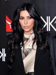 kim kardashian black hair