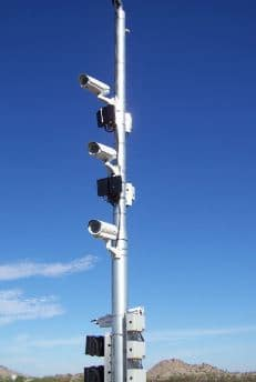 CCTV camera as part of intelligent transportation system