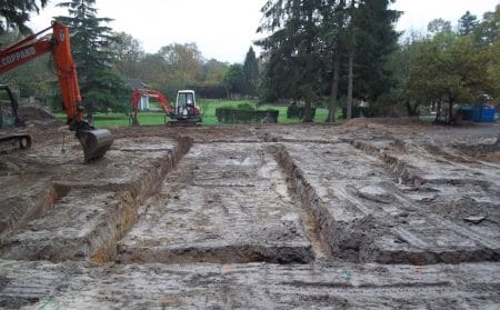 Excavation of Footing Trenches.