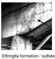 Ettringite formation in concrete