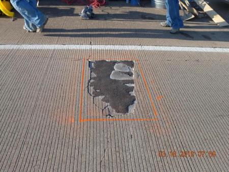 Marking of unsound concrete