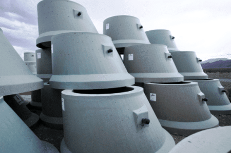 Precast Sanitary PCC Units; Image Courtesy: Armorock