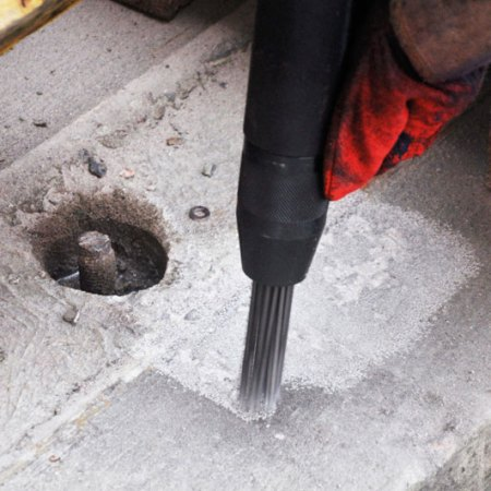 Needle Scaling for surface preparation of concrete repair
