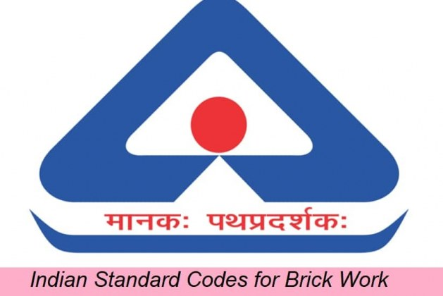 Indian Standard Codes for Brick Work