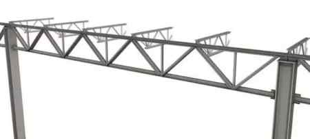 Trussed beam composed of steel section and strut