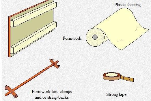 Equipment for repairs of concrete