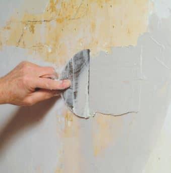 Application of plaster