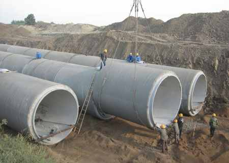 Laying Prestressed Concrete Pipes