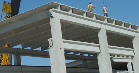 Precast concrete building and elements