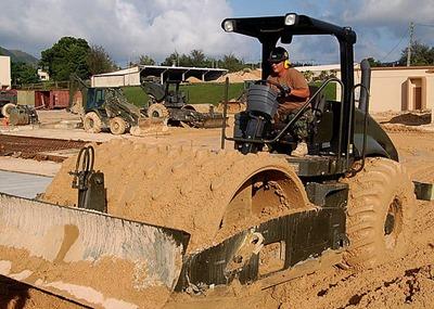 Roller for soil compaction