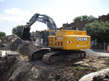 Earthwork in Excavation by using hydraulic Excavator