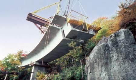 Precast method of bridge construction