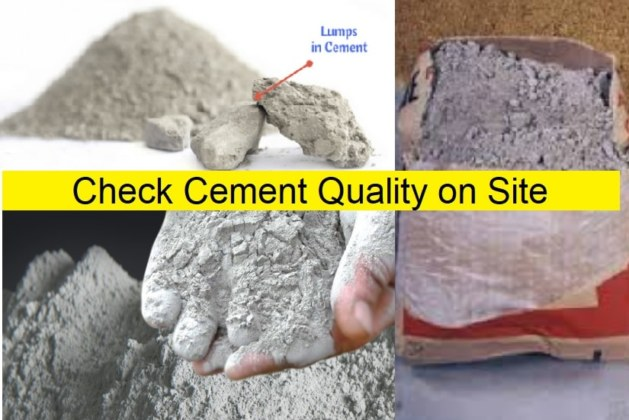 How to Check Cement Quality at Construction Site?