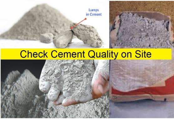 How to Check Cement Quality in field