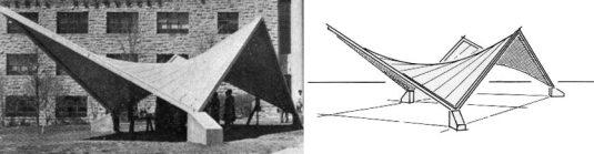 hyperbolic paraboloid shell