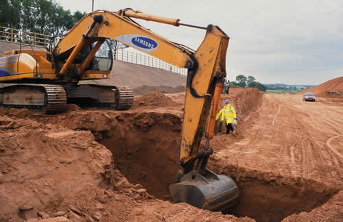 excavation and backfilling of soil