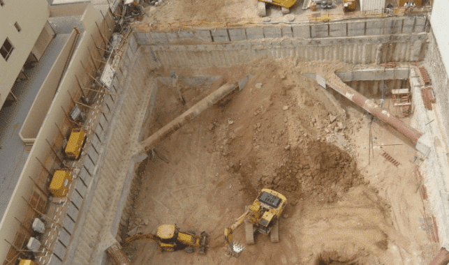Earth Retaining Systems for Deep Excavations; Image Courtesy: Zetas