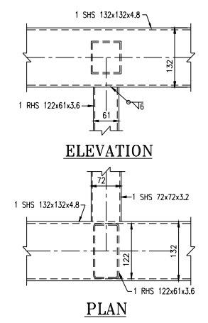 Vierendeel Joint Between Hollow Sections