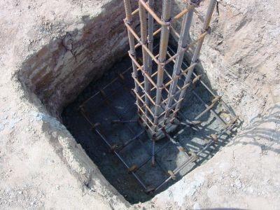RCC Footing Concreting