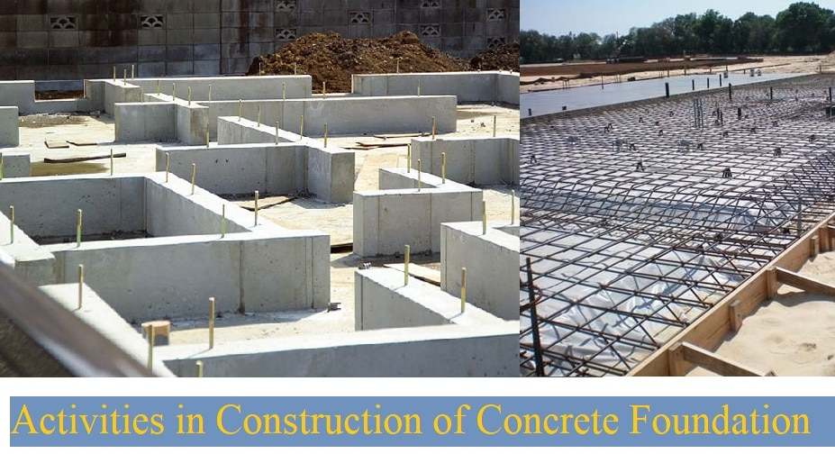 Activities In The Construction Of Concrete Foundation