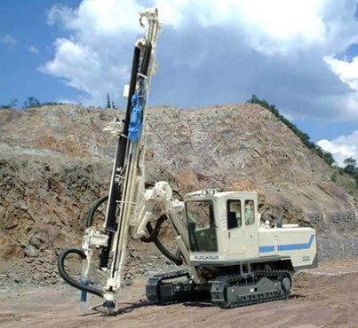 Wagon Drill for Deep Drilling into Rocks