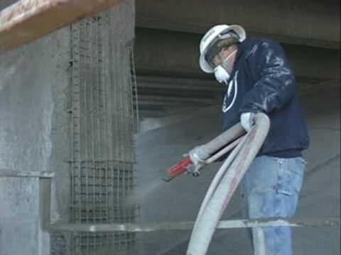 Shotcrete application in concrete repair