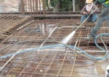 Fig.: Cleaning Formwork - Preparing for Concrete Placing