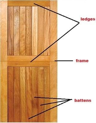 Battened, ledged and framed door