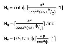 Fórmula de cálculo de factores