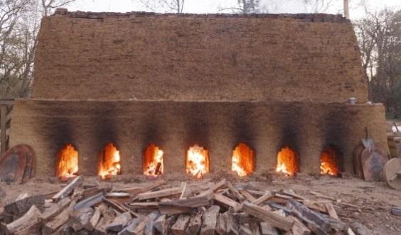 Burning of bricks