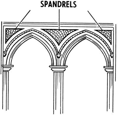 Spandrel in an Arch