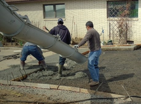 Pouring Concrete for Stamped Concrete