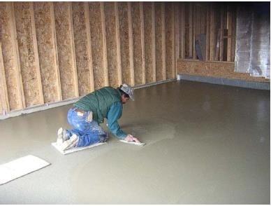Finishing of Helix Fiber Concrete