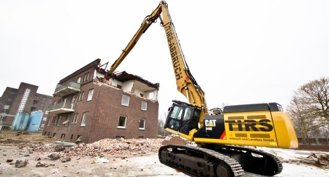Demolition of Buildings using High Reach Excavators