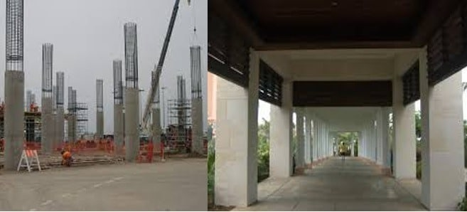 Types of RCC Column and its Functions and Construction Methods