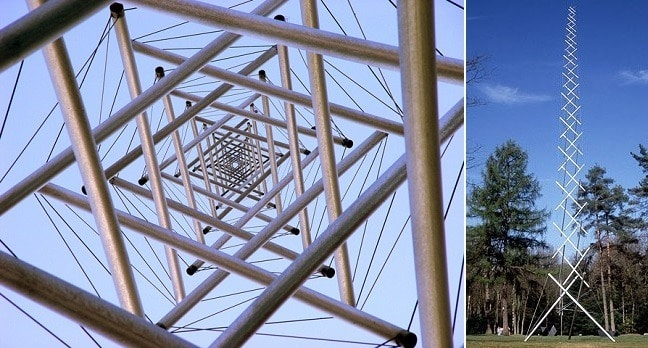 Tensegrity Structures Used in Civil Engineering - Needle Tower