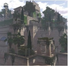 Hanging Gardens of Babylon- A simulated Picture