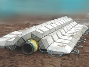 High Density Concrete Covered Pipelines Underwater