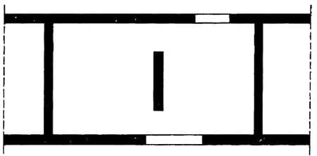 Plan View, Internal Wall Without Return