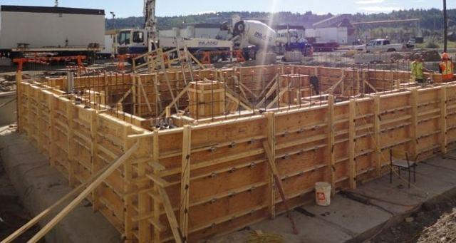 Laminated Veneer Lumber Used to Construct Formwork