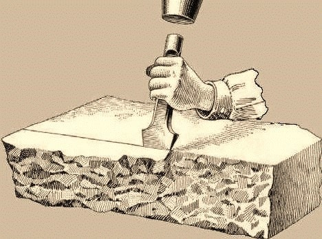 Dressing of Stones with Different Finishes for Masonry Works