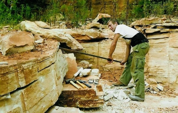 Quarrying of Stones using Hand Tools - Wedging