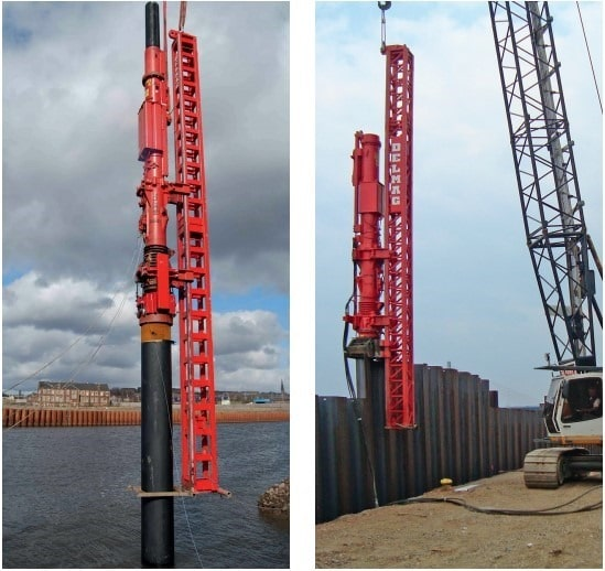 Hammer Guided and Rope Suspended Leader for Delmag Diesel Pile Hammer
