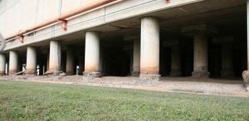 Sulfate attack on concrete foundation structure